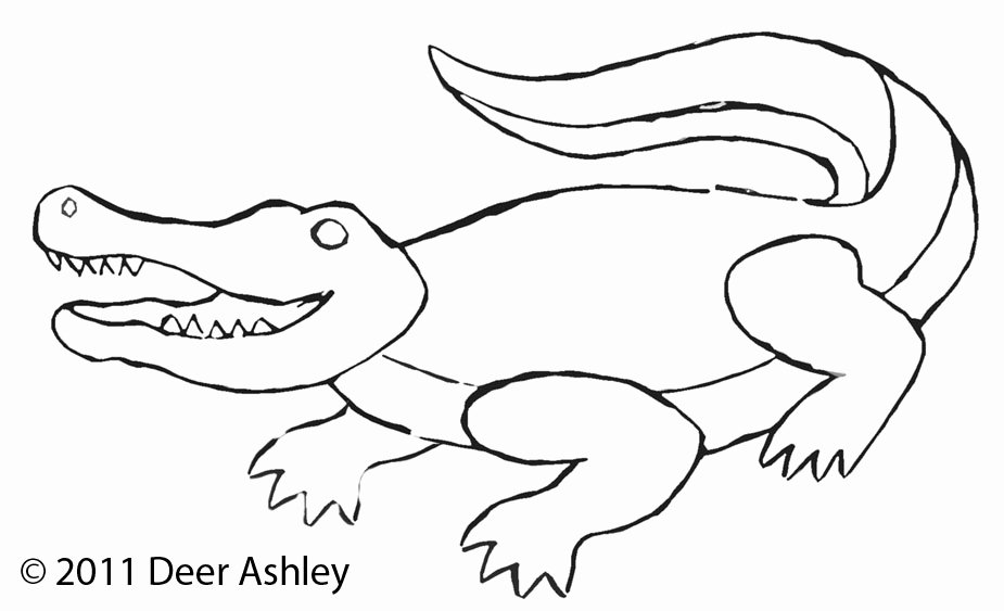 Alligator Template Printable Inspirational In Progress
