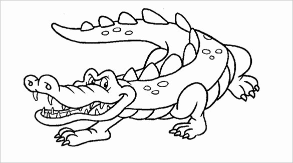 Alligator Template Printable Lovely 14 Alligator Templates Crafts & Colouring Pages