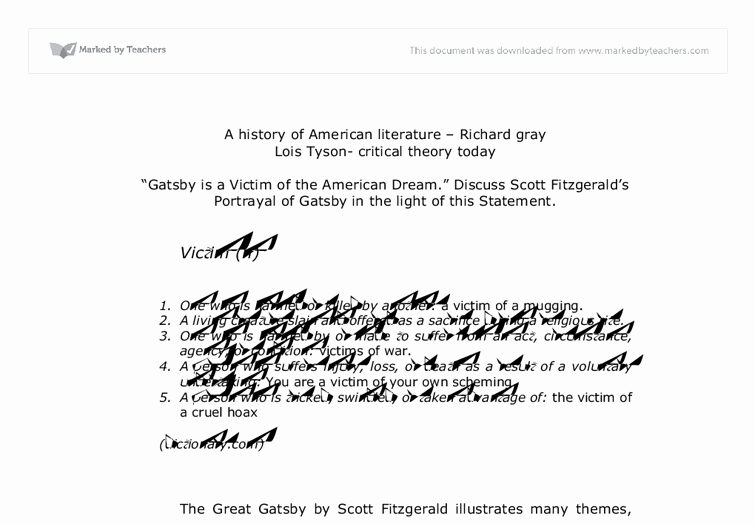 American Dream Essay Titles Lovely Corruption the American Dream In the Great Gatsby Essay