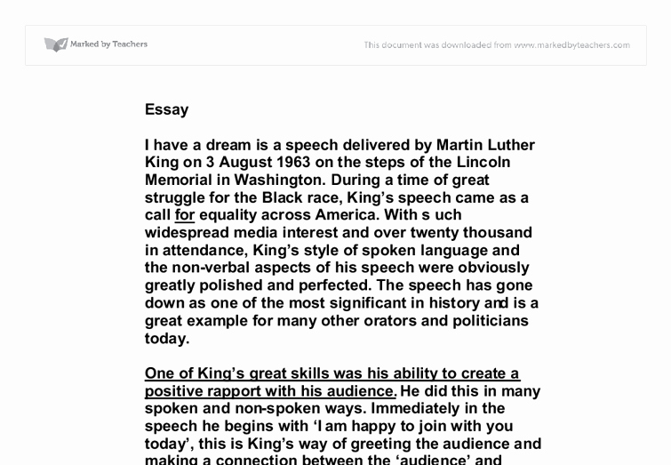 American Dream Essay Titles Lovely I Have A Dream Speech Essay