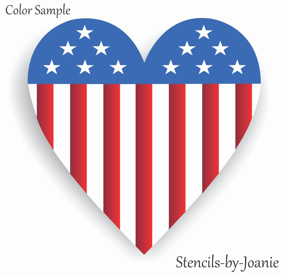 American Flag Star Stencil Printable Luxury Patriotic Stencil Americana Heart Flag Stars Stripes