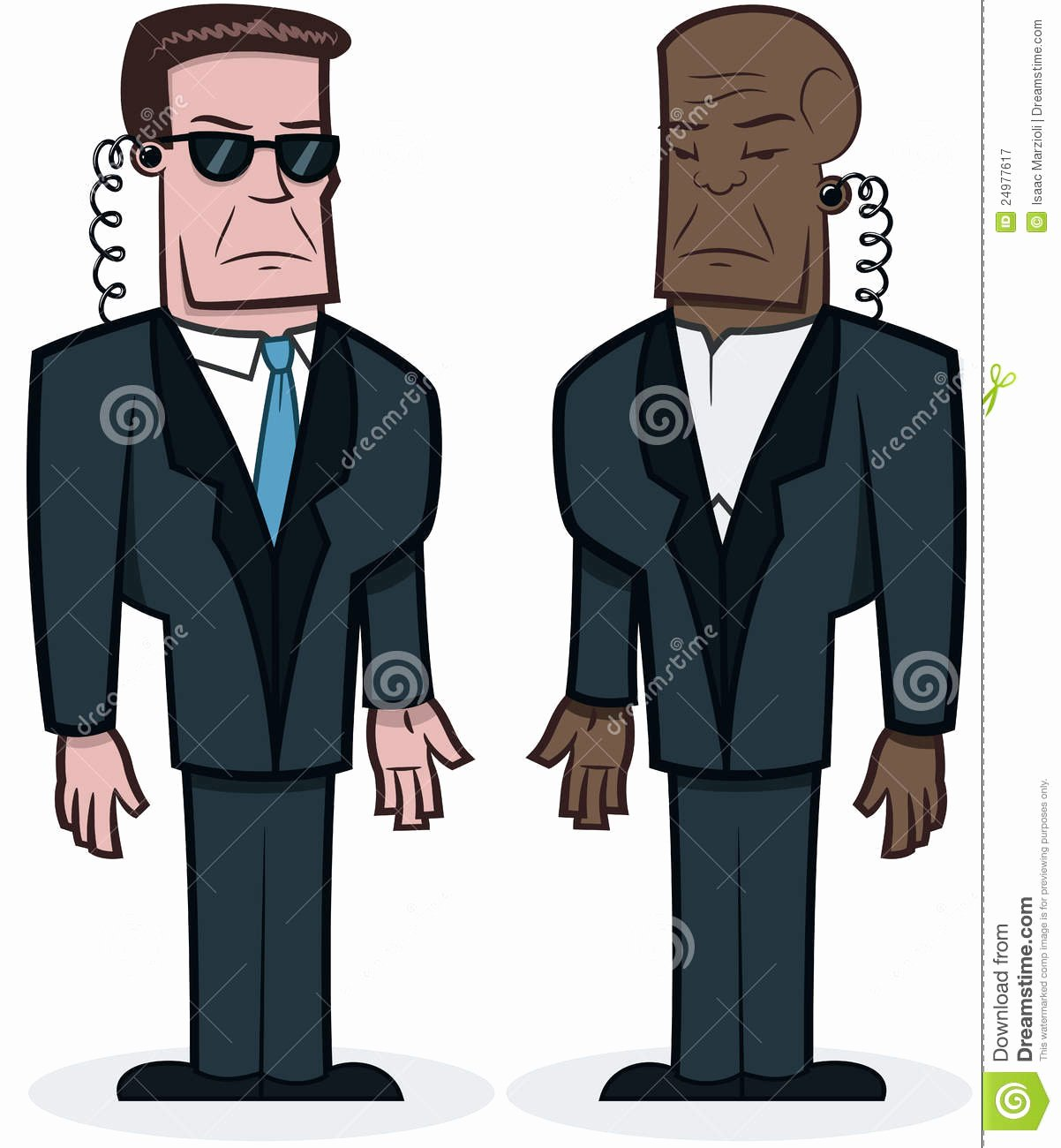 Americanization is tough On Macho Fresh tough Bodyguards Royalty Free Stock Graphy Image