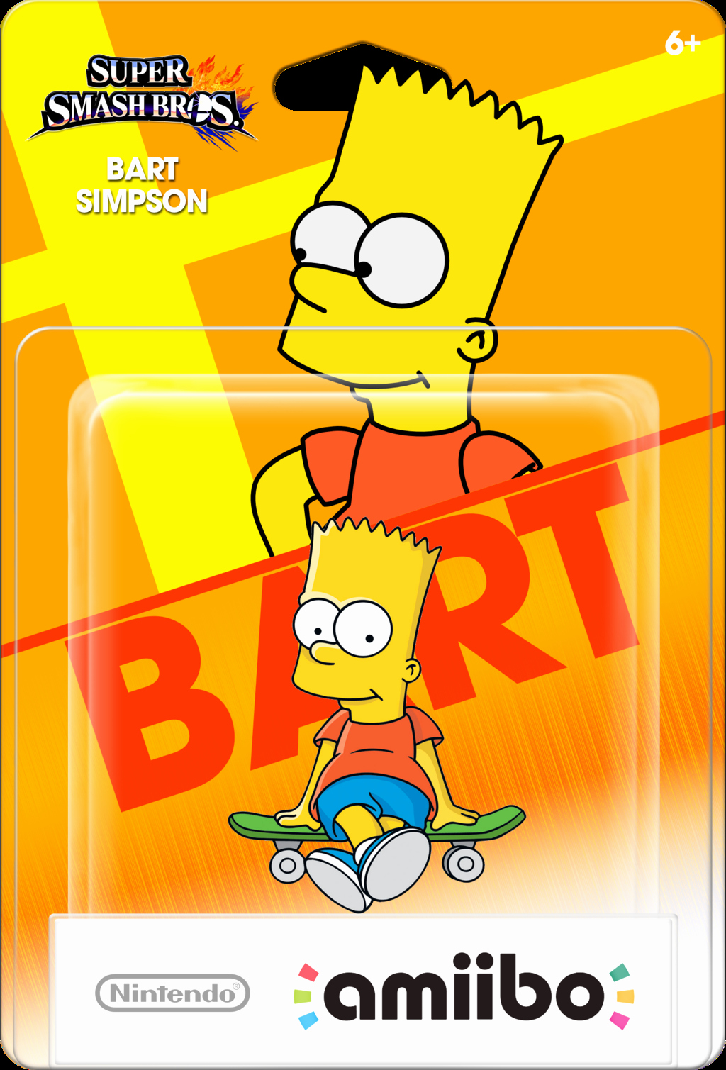 Amiibo Box Art Template Inspirational Bart Simpson Amiibo Box Ssb4 by Bartsimpsonfan2015 On