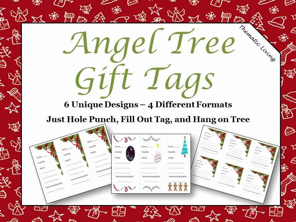 Angel Tree Template Awesome Angel Tree Gift Tags