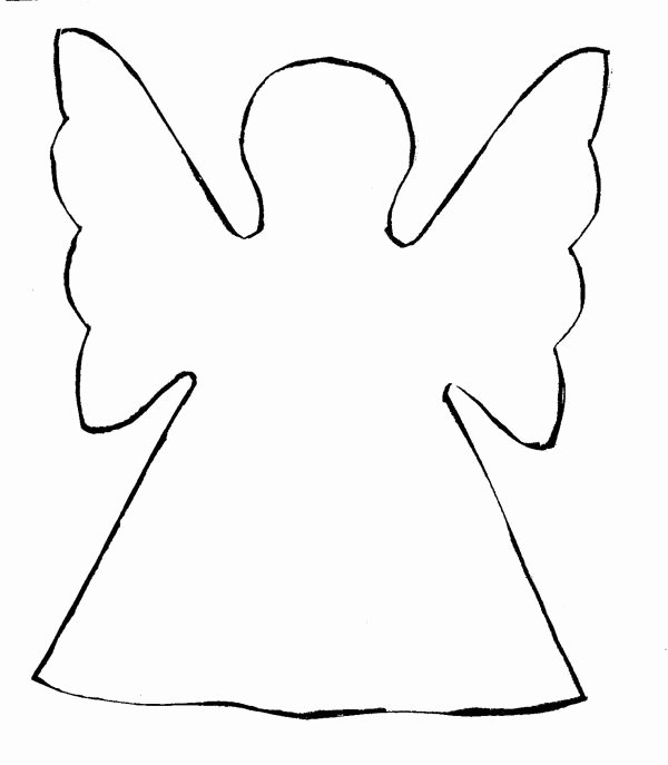 Angel Tree Template Elegant Christmas Tree Angel Template Christmas