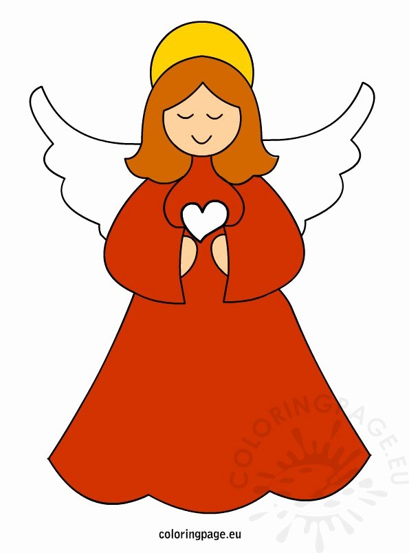 Angel Tree Template Fresh Christmas Angel Vector Art
