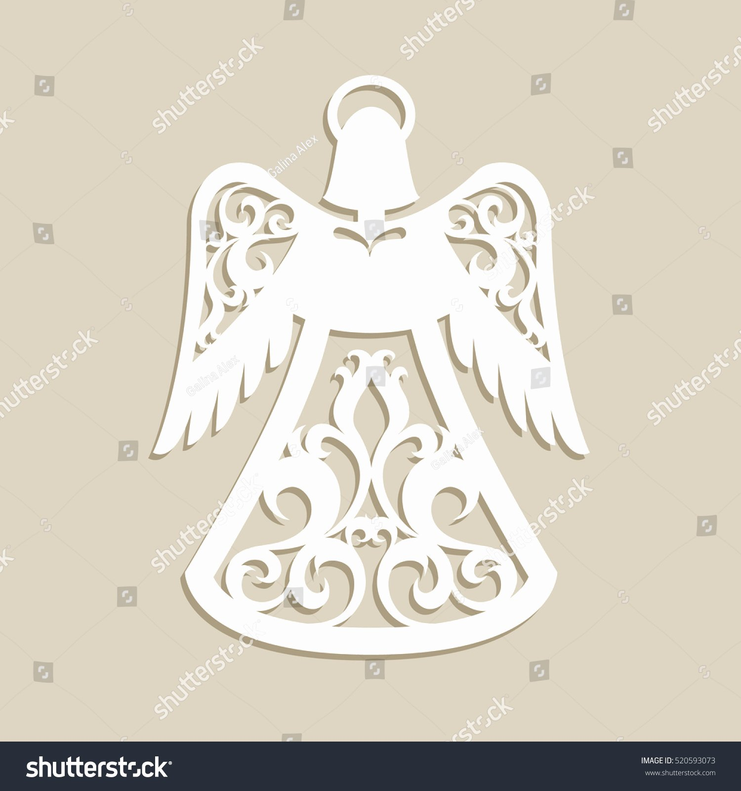 Angel Tree Template Fresh Christmas Carved Openwork Angel Template Laser Stock