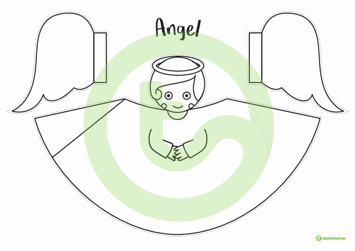 Angel Tree Template Lovely 4 Printable Tree topper Templates for Christmas Craft
