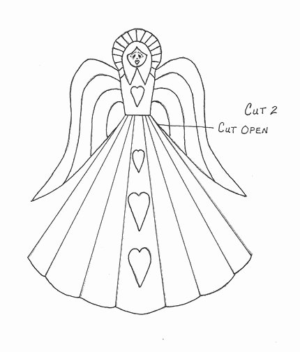 Angel Tree Template New Vintage Look Angel Tree topper the Artful Crafter