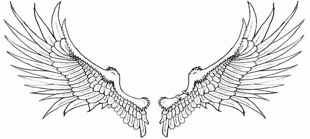 Angel Wing Stencil Printable Awesome Angel Wings