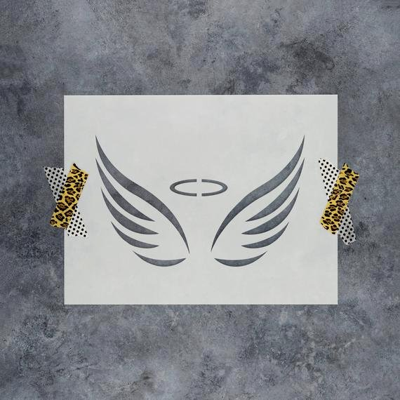 Angel Wing Stencil Printable Awesome Angel Wings Stencil Reusable Diy Craft Stencils Of Angel