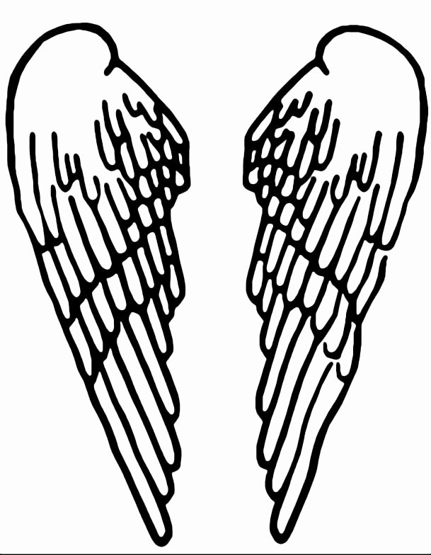 Angel Wing Stencil Printable Awesome Seraph Wing Shirt now with Wings Stencil Image