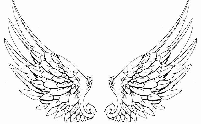Angel Wing Stencil Printable Awesome Tattoos Book 2510 Free Printable Tattoo Stencils Wings