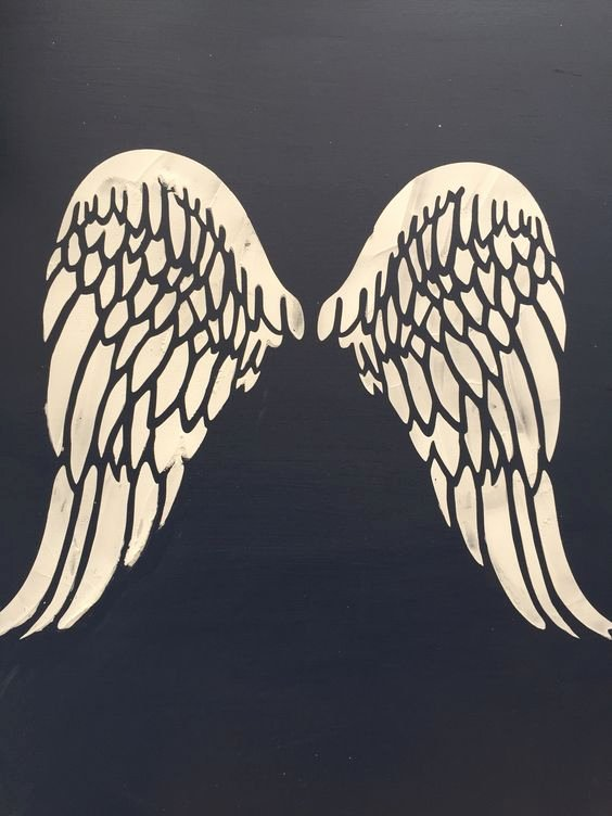 Angel Wing Stencil Printable Awesome Vintage Wings and Stencils On Pinterest