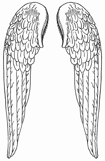 Angel Wing Stencil Printable Best Of Angel Wings Pattern