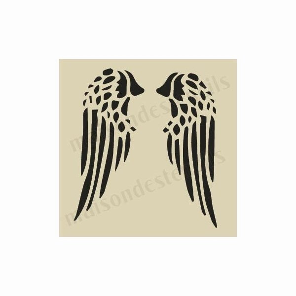 Angel Wing Stencil Printable Best Of Angel Wings Small 5 X 5 Stencil