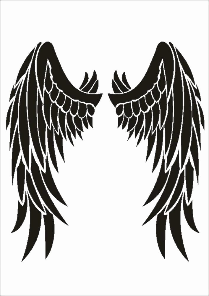 Angel Wing Stencil Printable Elegant Stencil W 207 Angel Wings Umr Wall Stencil