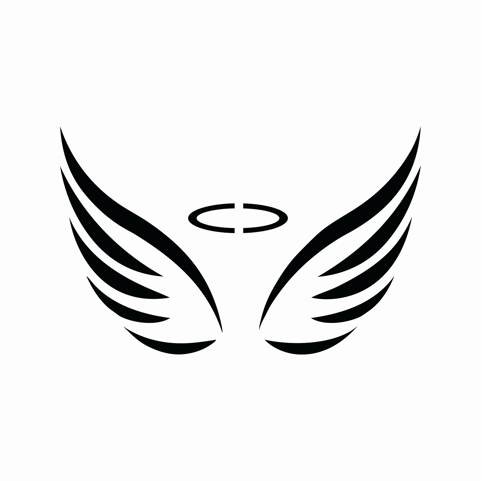 Angel Wing Stencil Printable Fresh Angel Wings Stencil Silhouette 3 Fun