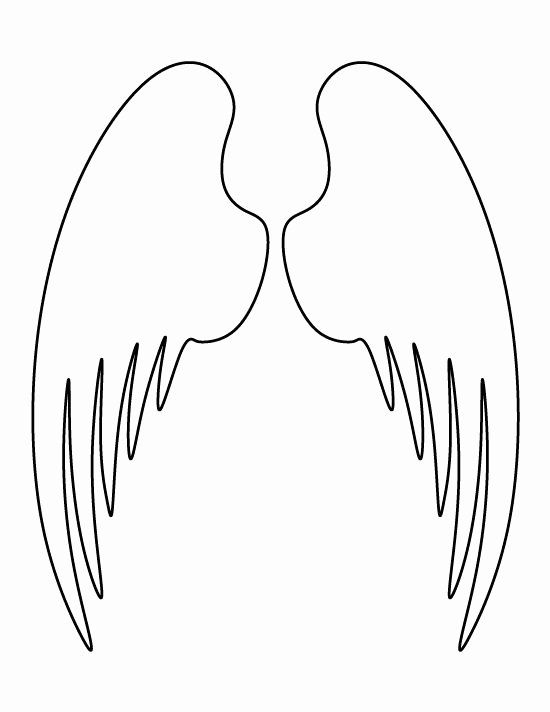Angel Wing Stencil Printable Inspirational Angel Wings Pattern Use the Printable Outline for Crafts