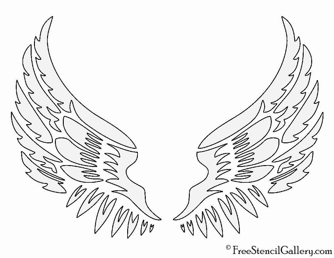 Angel Wing Stencil Printable Inspirational Angel Wings Stencil