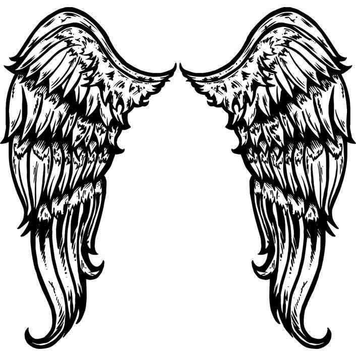 Angel Wing Stencil Printable Inspirational Free Printable Angel Wings Download Free Clip Art Free