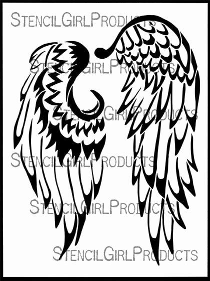Angel Wing Stencil Printable Luxury Angel Wings Stencil Kristie Taylor