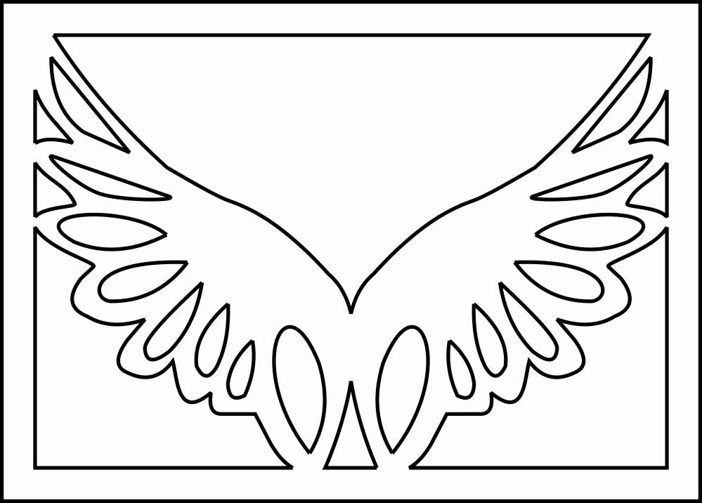Angel Wing Stencil Printable New Angel Stencils Angel Wings Stencil