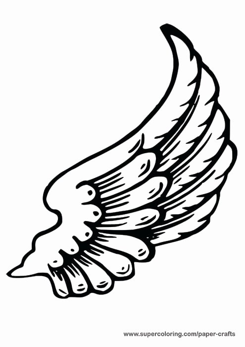 Angel Wing Templates Awesome Left Angel Wing Paper Template