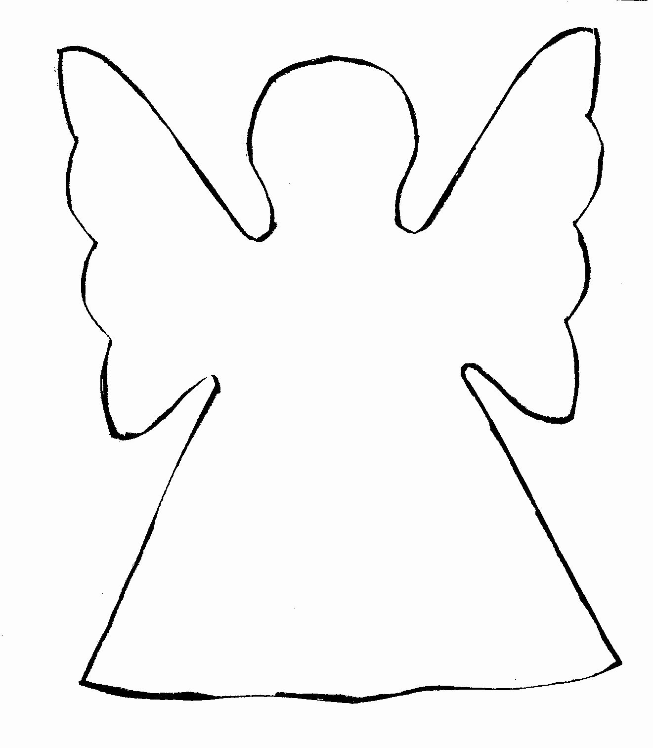 Angel Wing Templates Best Of Angel Outline Clipart Clipart Suggest