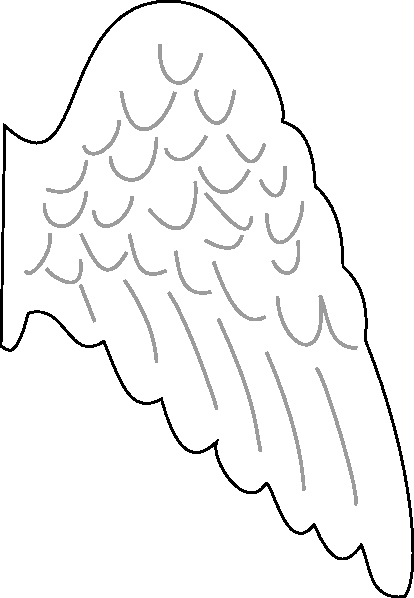 Angel Wing Templates Lovely Angel Wing Clip Art at Clker Vector Clip Art Online