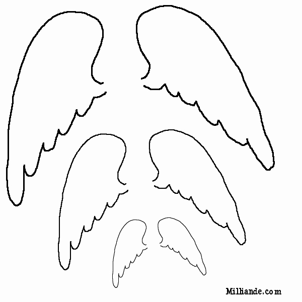 Angel Wing Templates New Free Printable Angels Clipart Clipart Suggest