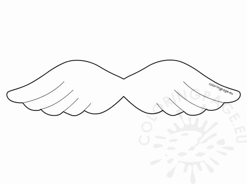 Angel Wing Templates Printable Awesome Christmas Coloring Page