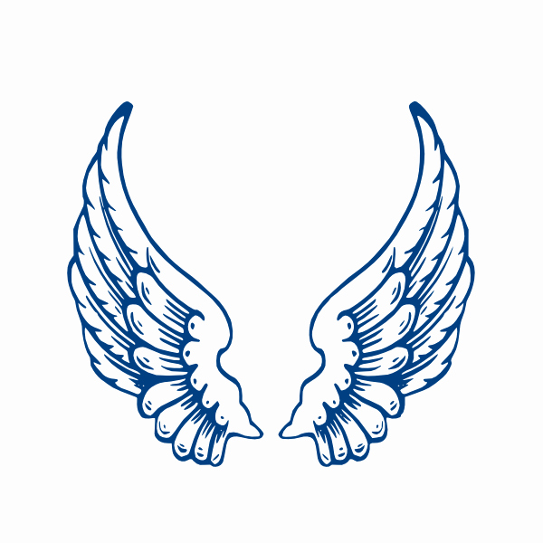 Angel Wing Templates Printable Beautiful Angelwings Clip Art at Clker Vector Clip Art