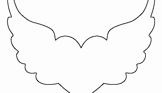 Angel Wing Templates Printable Beautiful Heart with Wings Pattern Use the Printable Outline for
