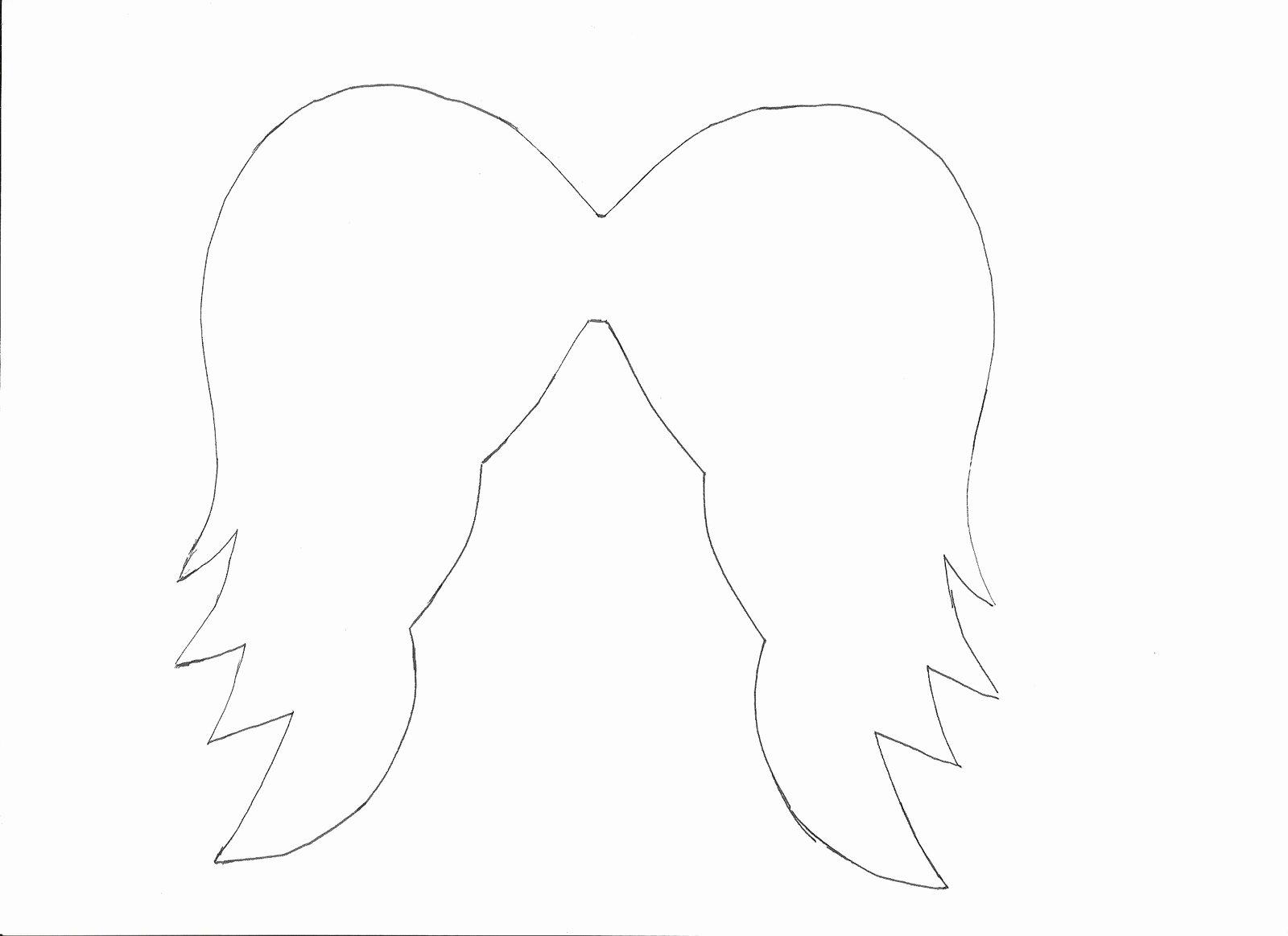 Angel Wing Templates Printable Elegant the Nest Paper Angel Wings