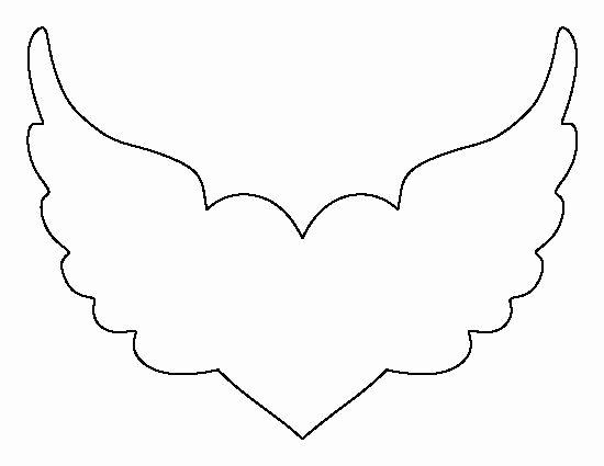 Angel Wing Templates Printable Fresh Angel Wing Cut Out Template Crafts the O Jays and Wings