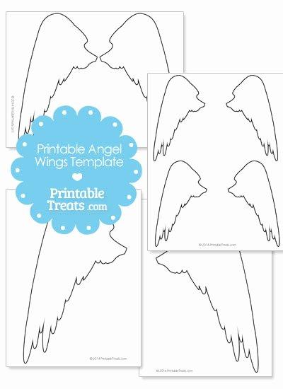 Angel Wing Templates Printable Fresh Printable Angel Wings Outline — Printable Treats