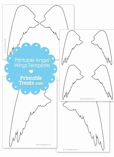 Angel Wing Templates Printable Inspirational Printable Angel Wings Outline From Printabletreats