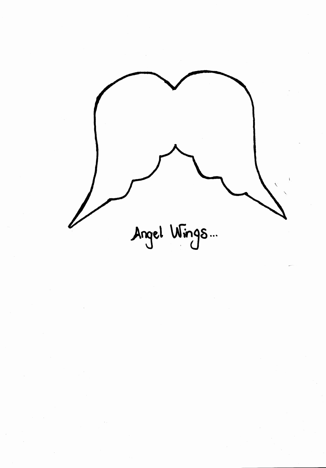 Angel Wing Templates Printable Lovely Mia Bella Passions Music Sheet Angels Wings Just for