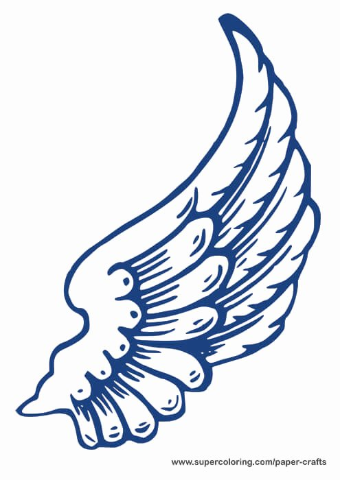Angel Wing Templates Printable Unique Blue Left Angel Wing Template