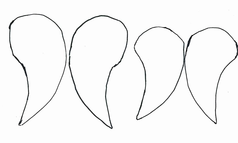 Angel Wing Templates Printable Unique How to Make A Beautiful Angel Wings Christmas ornament