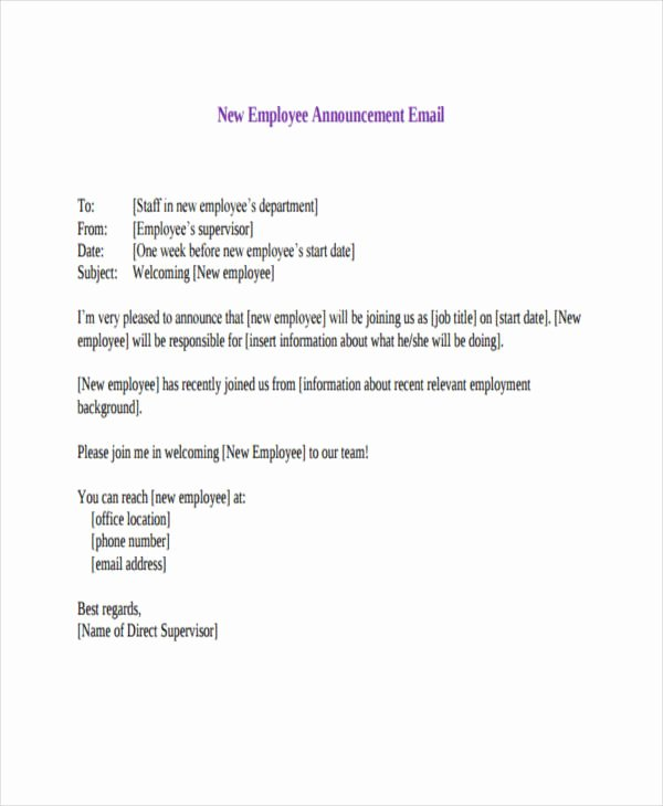Announcement Of Employee Leaving Company Template Awesome 11 Announcement Email Examples & Samples Pdf Doc