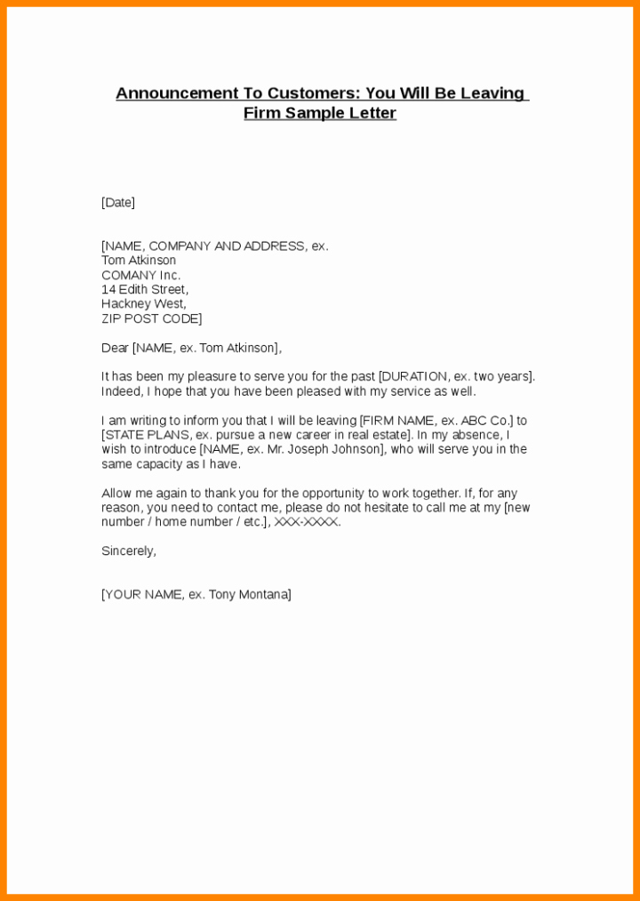 Announcement Of Employee Leaving Company Template Elegant Announcing A Resignation to Staff Samples