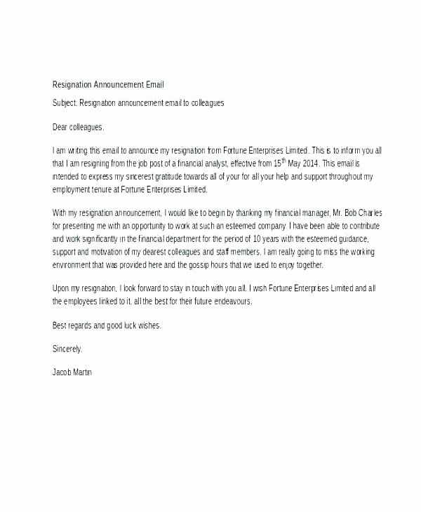 Announcement Of Employee Leaving Company Template Unique New Employee Announcement Letter