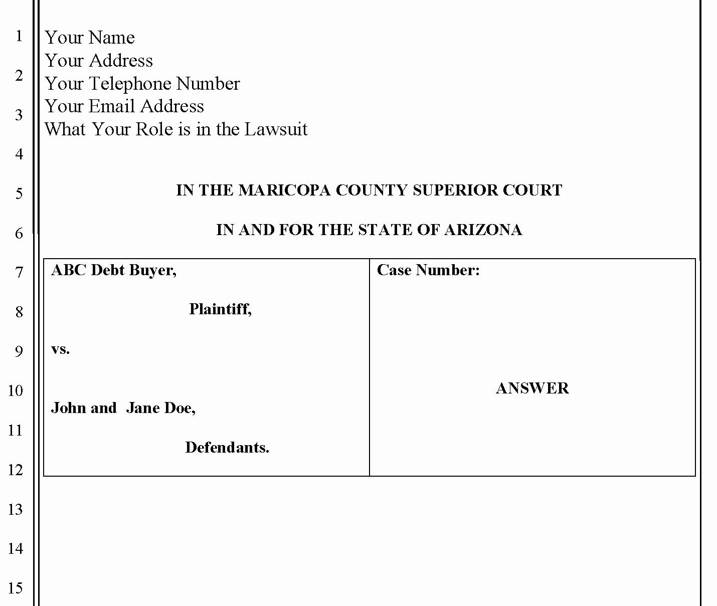 Answer to Civil Complaint Example Beautiful Collection How to File A Civil Plaint S Daily