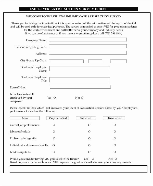 Apartment Market Survey form Best Of 60 Sample Survey forms Word Pdf
