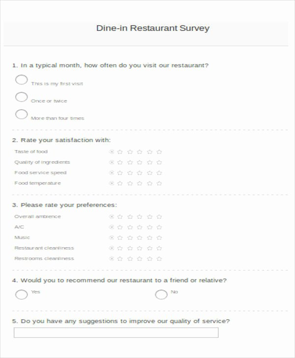 Apartment Market Survey form Fresh Printable Survey form 55 Examples In Pdf Word