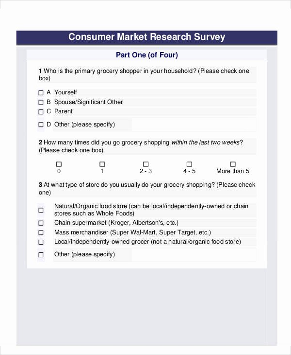 Apartment Market Survey form Inspirational 60 Sample Survey forms Word Pdf