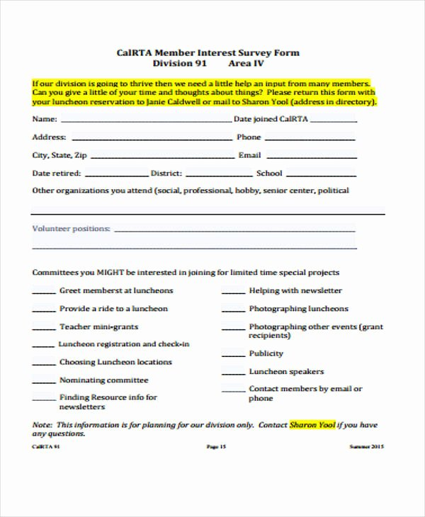 Apartment Market Survey Template Best Of 45 Examples Of Survey forms
