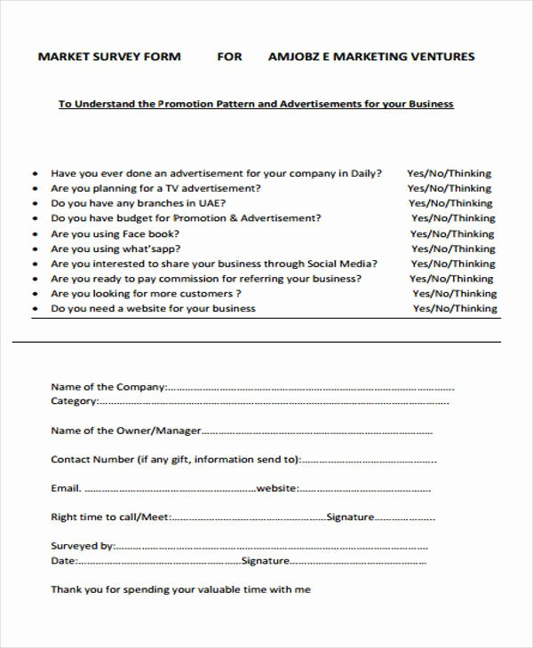 Apartment Market Survey Template Fresh 45 Examples Of Survey forms